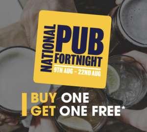 BOGOF drinks for National Pub Fortnight