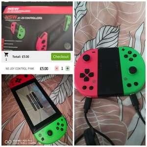 Nintendo switch gioteck controllers £5 ASDA hunts cross
