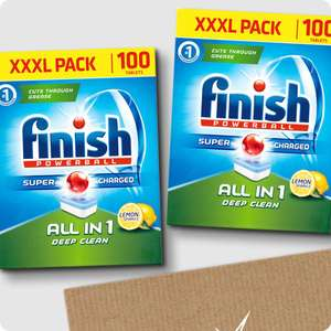 Finish All in 1 with Wrapper Lemon Dishwasher Tablets – 500 tabs £27.49 delivered with code @ Finish