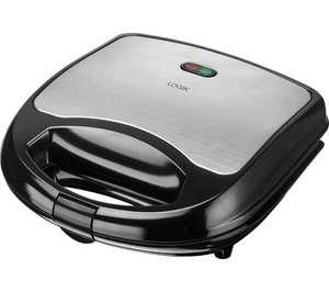 LOGIK L02SMS17 Sandwich Toaster - Black & Silver - £7.99 Delivered @ Currys PC World