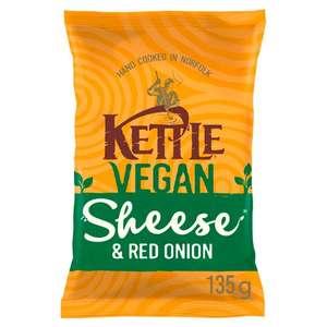 Kettle Crisps Vegan Sheese & Red Onion 135G (Clubcard Price) £1 @ Tesco