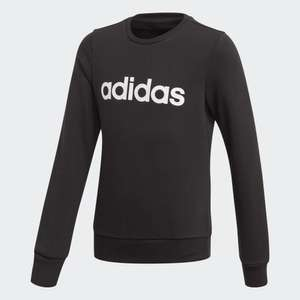 adidas Linear Black Sweatshirt - Up to age 15 years, £11.35 delivered using code @ adidas