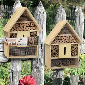 Wooden Insect & Bee Hotel With Hanging Loop £10 Delivered @ WeeklyDeals4Less