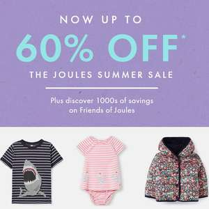 Joules Summer Sale - Up to 60% Off + Free Delivery using code @ Joules