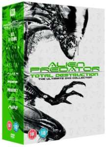 Alien Vs Predator: Total Destruction Collection - 8 Films (used) DVD Box Set £3.05 delivered with code @ Music Magpie