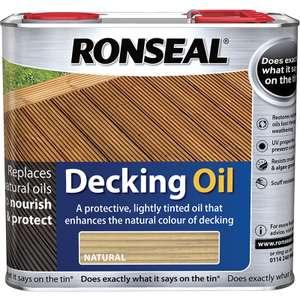 Ronseal Decking Oil Natural 2.5L £17.99 Free C&C @ Toolstation