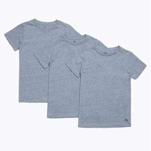 Hype Grey OR Black Three Pack Kids T-Shirts - Ages 5/6, 9/10, 11/12 in stock £8.10 delivered using code @ Just Hype