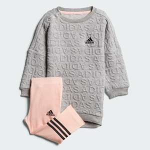 Infant Adidas I Sweat Dress Set Now £9.79 with code Free delivery with Creators Club @ Adidas