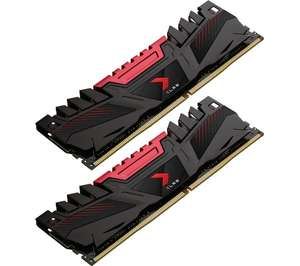 PNY XLR8 DDR4 3200MHz PC RAM 8GB x 2 DIMM 1.35V CL16 + 10 year guarantee - £65 delivered with code @ Currys PC World