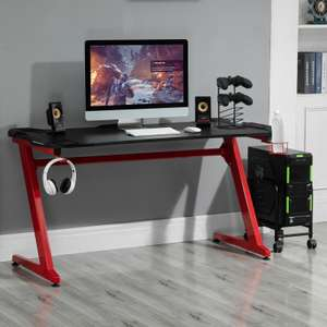 HOMCOM Gaming Desk with Gamepad Holder Cup Holder Headphone Hook £49.99 (UK Mainland) ebay / mhstarukltd