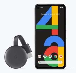 Google Pixel 4a 128GB Black Smartphone With Free Chromecast - £296.65 Via Student Beans @ Google Store