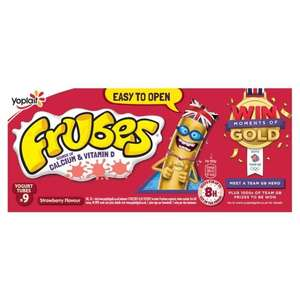 Frubes strawberry flavour and strawberry/red berry/peach flavour yogurt @ Asda for £1