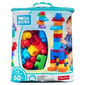 Mega Bloks Maxi Bag Classic 60pc for £6.50 at Tesco (Clubcard Price)