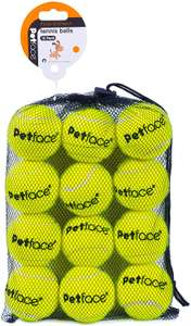 Petface Super Tennis Balls For Dogs, Throw and Fetch, Outdoor Exercise, 12 Pack £7.99 Prime at Amazon (+£4.49 non Prime)