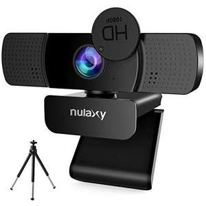 NULAXY Webcam 1080P, Webcam for PC with Privacy Shutter & Tripod - £9.99 delivered @ Sold by WONEW-EU and Fulfilled by Amazon
