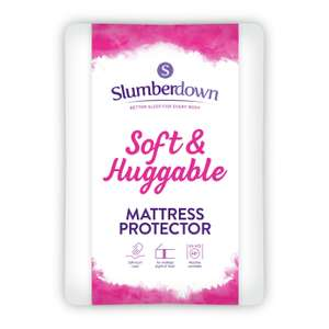 Slumberdown Soft and Huggable Mattress Protector - Single £6.67 / Double £8 / King £9.33 free click and collect at Argos