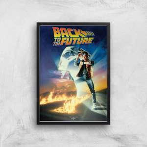 Back to The Future A4 Giclee 300GSM print with frame + Back to The Future Mug = £12.99 delivered with code @ IWOOT