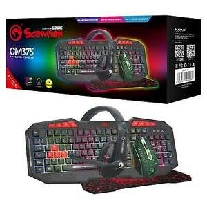 Marvo Scorpion CM375 Keyboard Mouse Headset and mouse mat £22.07 Nectar / £23.37 Non Nectar @ buyitdirect / ebay (UK Mainland)