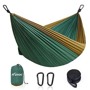 KUYOU Camping Hammock 280X190cm £11.89 prime + £4.49 non prime Dispatches from Amazon Sold by KUYOU SPORTS