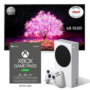 """2021 LG OLED48C14LB 48"""" Smart 4K Ultra HD OLED TV (120Hz) 5 yr gtee + Xbox Series S & 3m Game Pass Ult £1178 with code @ Currys PC World"""