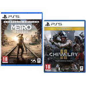 Metro Exodus Complete Edition / Chivalry II Day One Edition (PS5 / Xbox Series X) - £23.99 each Delivered @ 365games.co.uk