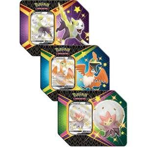 Pokemon Tcg: Shining Fates Tin – 3 Set £55.19 (£2.99 delivery) @ Zatu Games