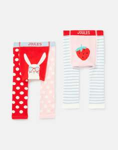 Joules Baby Girls 216446 2Pk Character Knit Leggings - Strawberry Bunny £5.36 @ Joules / ebay