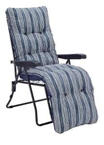 Argos Home Metal Folding Relaxer Chair - Coastal Stripe - £20 (free click & collect) @ Argos (Limited stock)