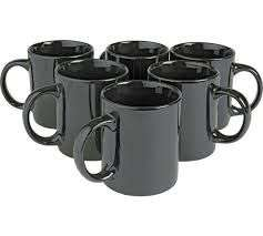 Argos Home Set of 6 Porcelain Mugs - Black or White - £4.50 (free click and collect) @ Argos