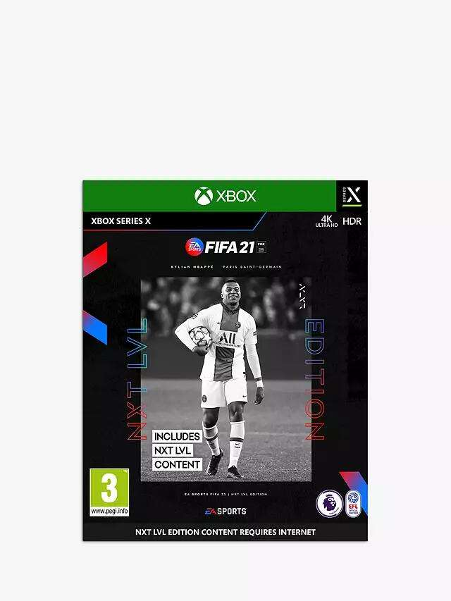 FIFA 21 NXT Level Edition - Xbox Series X £10 John Lewis & Partners + £2 Click & Collect / £3.50 Standard Delivery - hotukdeals