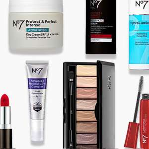 £10 Off a £20 spend on selected No7 + Buy 2 selected No7 items get a Free No7 Bronze Heat Face & Eye Palette + Free Click & Collect @ Boots