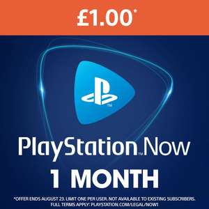 PlayStation Now - 1 Month for £1 (New or Relapsed Subscriptions) @ PlayStation Store