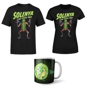 Rick and Morty Solenya T-Shirt & Mug £8.99 delivered wth code @ IWOOT