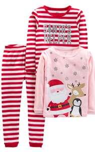 Carter's Christmas kid's pyjamas 3 piece set size age 2 now £5.28 + £4.49 Non Prime @ Amazon
