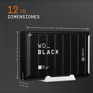WD_BLACK D10 Game Drive for Xbox 12TB - 7200RPM with active cooling £225.67 Delivered (UK Mainland) @ Amazon Spain