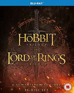 The Middle Earth Collection (Extended Edition) 30-Disc Blu-Ray set £43.42 at Amazon