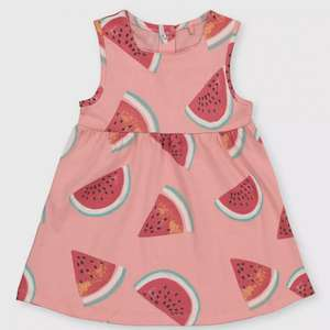 Pink Watermelon Print Girl's Dress £2 @ Argos Free Click & Collect