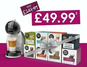 NESCAFÉ Dolce Gusto Flash Sale with Mini Me Machine & any 8 boxes of Pods £49.99 delivered @ Nescafe Dolce Gusto