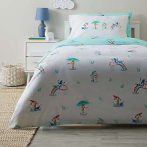 Colourful Crayons Anti Bacterial Reversible Duvet Cover and Pillowcase Set from £4.90 Click + Collect @ Dunelm