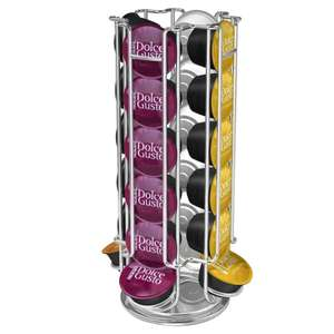 360 Degree Rotating Coffee Pod Dispenser – Holds up to 24 Nescafe Dulce Gusto Capsules £9 delivered @ Weelydeals4less