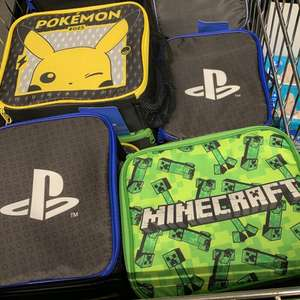 Official Pokémon, PlayStation, Minecraft gaming lunch bag £5.99 at Aldi London