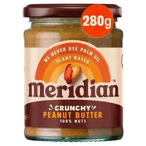 Meridian crunchy/smooth peanut butter (280g) - £1.40 @ Sainsbury's