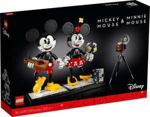 LEGO Disney 43179 Mickey & Minnie Mouse Buildable Character - £113.30 + free click & collect @ Argos