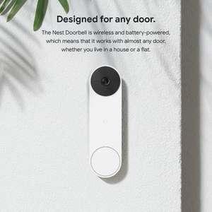 NEW Nest Doorbell is a battery-powered video doorbell inc Free Google Nest Mini Charcoal using voucher code FREECHARC - £179.99 @ Jessops