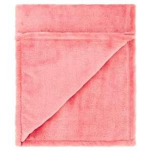 Tesco Super Soft Throw Dusky Pink - £1.25 @ Tesco