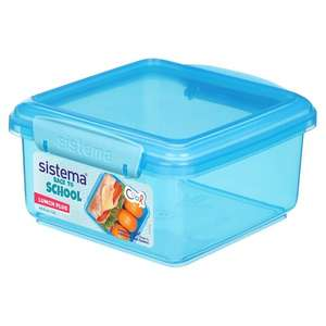 Better Than 1/2 price Sistema Products e.g Sistema To Go Lunch Plus 1.2L £1.40 or 2L £1.80 / Sistema Sandwich Box £1.20 - Clubcard @ Tesco