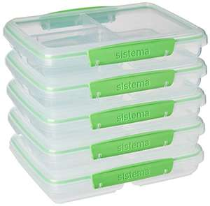 Sistema To Go Multi Split Meal & Food Prep Containers £12.29 (£17.28 non prime) Amazon