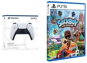 PlayStation 5 Dualsense Controller + Sackboy or Marvel's Spider-Man £79.99 delivered @ Amazon