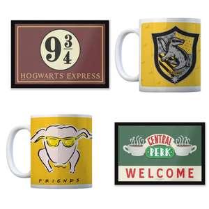 Entrance Mat & Mug Bundle £11 Delivered (Harry Potter OR Friends) @ using code @ IWOOT