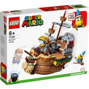 LEGO Super Mario Bowser's Airship Expansion Set Toy (71391) £66.99 with code + £1.99 delivery @ Zavvi